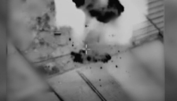 لقطة جوية لفيديو نشرته الجيش الاسرائيلي، لقصف اسرائيلي على قطاع غزة (الصورة- Screen Grab)