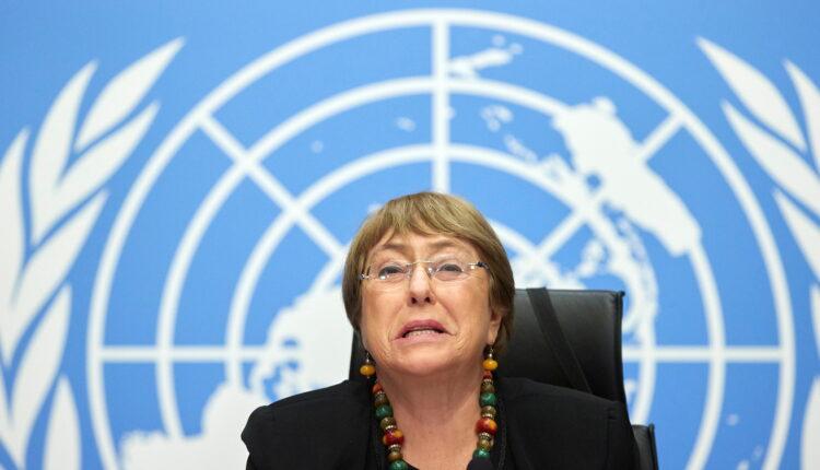 مفوضة الأمم المتحدة لحقوق الإنسان ميشيل باشيليت خلال مؤتمر صحفي في جنيف يوم التاسع من ديسمبر كانون الأول 2020. (الصورة: رويترز)