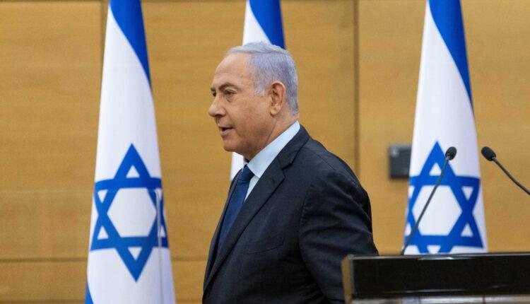 رئيس الوزراء الإسرائيلي بنيامين نتنياهو في الكنيست بالقدس يوم 30 مايو أيار 2021. (الصورة: رويترز )