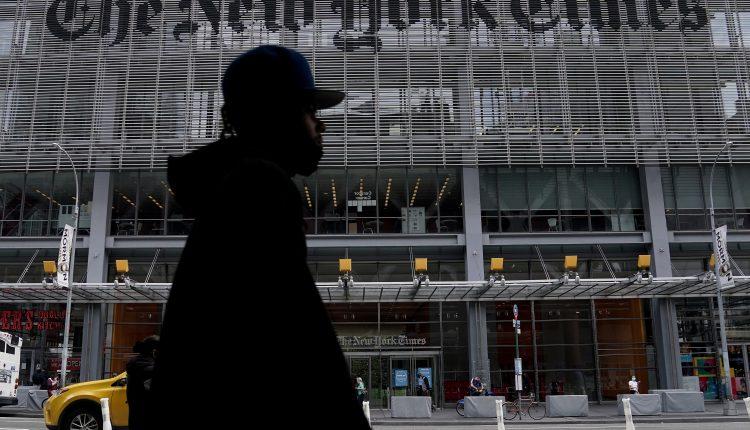 صورة لمكتب نيويورك تايمز في حي مانهاتن بمدينة نيويورك، الولايات المتحدة ، 28 سبتمبر ، 2020. (الصورة: رويترز)