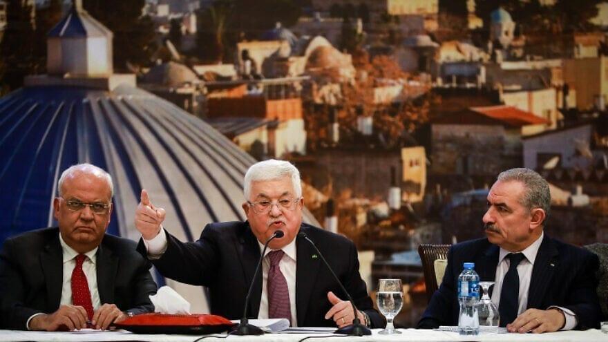 عباس مع اعضاء اقاليم فتح