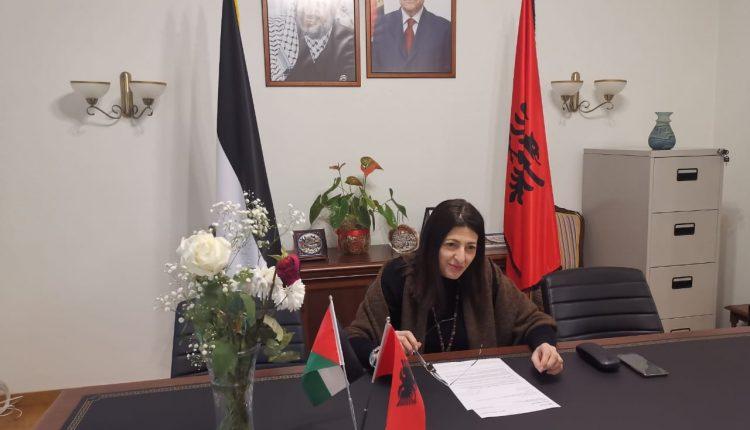 هناء الشوا سفيرة السلطة الفلسطينية في البانيا (الصورة فيسبوك)