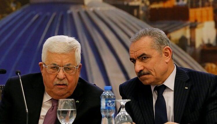 محمود عباس و محمد اشتية