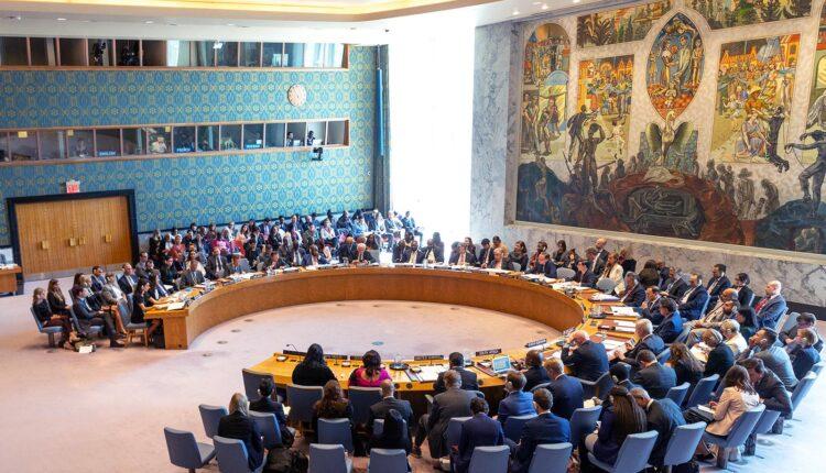 اجتماع مجلس الأمن التابع للأمم المتحدة المنعقد في أبريل 2019 في مقر الأمم المتحدة بنيويورك. (الصورة: Shutterstock)